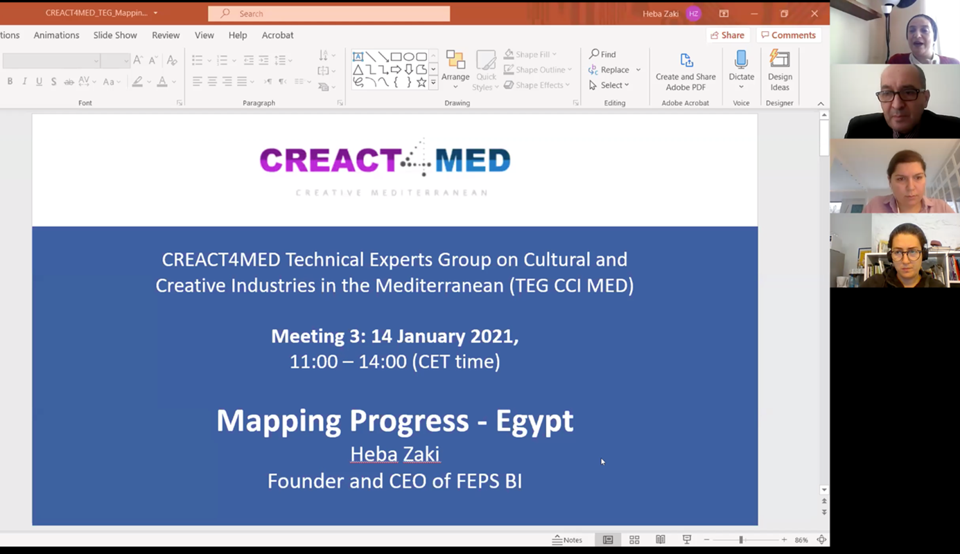 CREACT4MED project CCI Technical expert group 3rd meeting completed successfully
