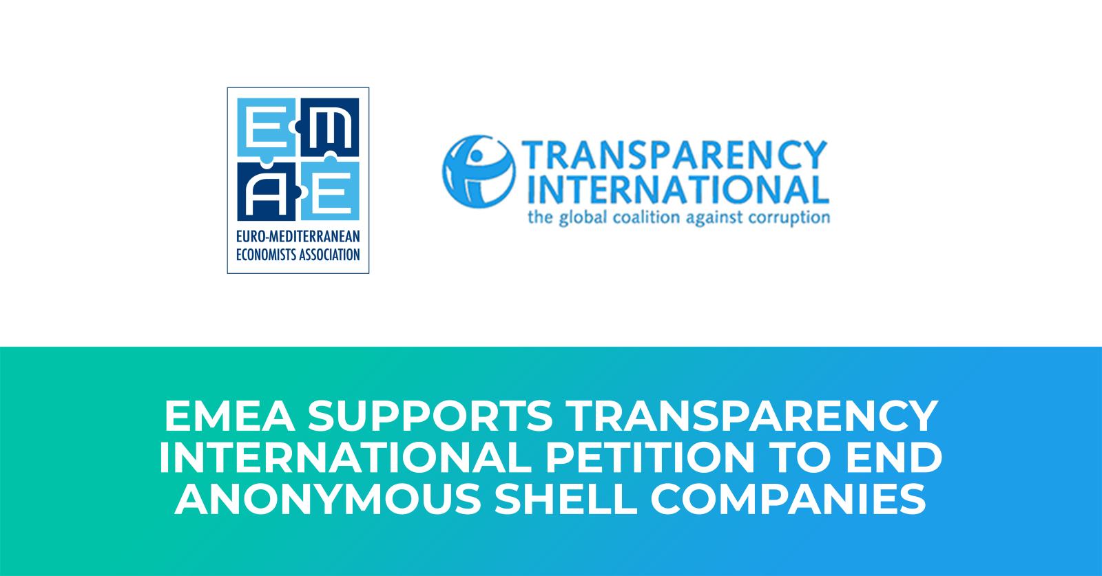 EMEA supports Transparency International petition to end anonymous shell companies