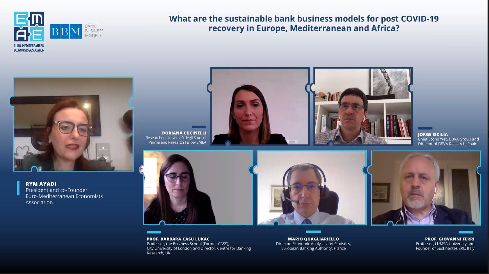 "The webinar ""What are the sustainable bank business models for post COVID-19 recovery in Europe, Mediterranean and Africa?"" was completed successfully"