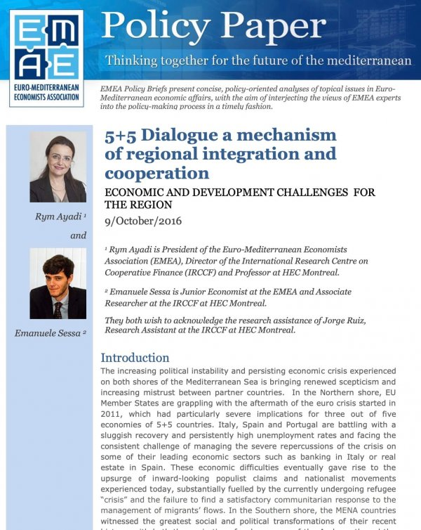 5+5 Dialogue A Mechanism Of Regional Integration And Cooperation