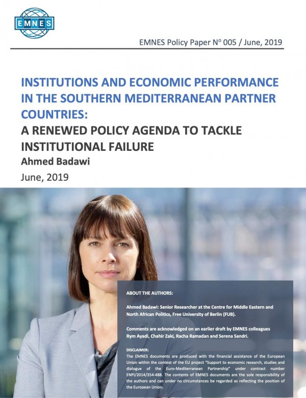 Institutions And Economic Performance In The Southern Mediterranean Partner Countries: A Renewed Policy Agenda To Tackle Institutional Failure
