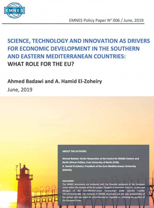 Science, Technology And Innovation As Drivers For Economic Development In The Southern And Eastern Mediterranean Countries: What Role For The Eu?