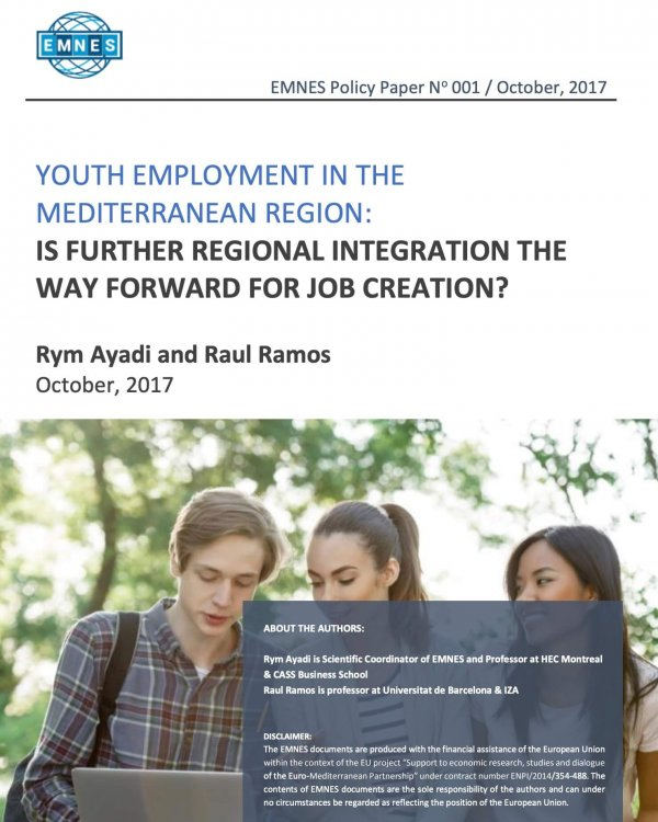 Youth Employment In The Mediterranean Region: Is Further Regional Integration The Way Forward For Job Creation?