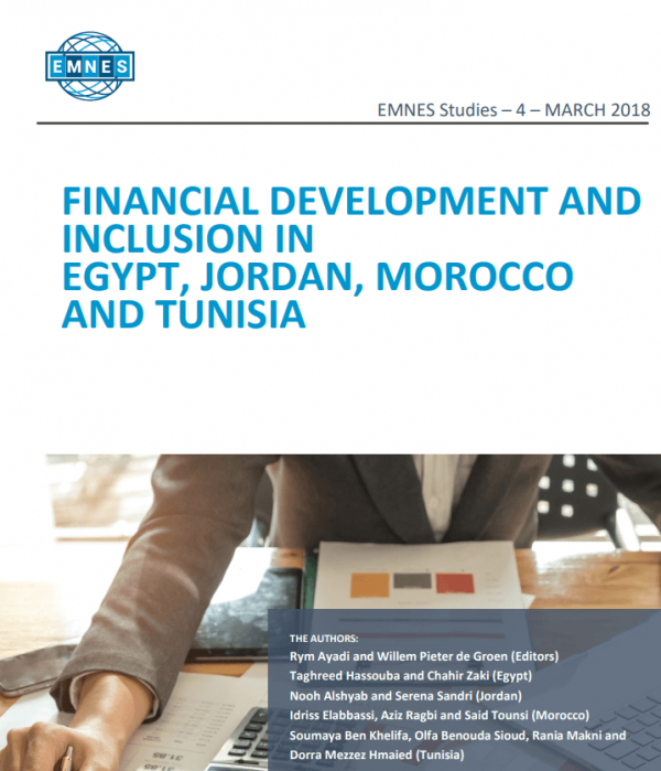 Financial Development and Inclusion in Egypt, Jordan, Morocco and Tunisia