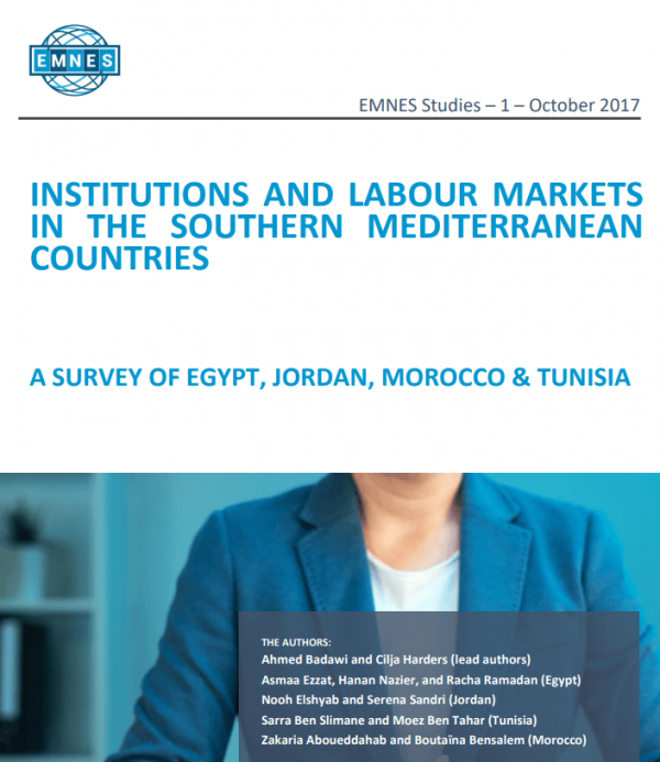 Institutions and labour markets in the Southern Mediterranean countries – A survey of Egypt, Jordan, Morocco & Tunisia