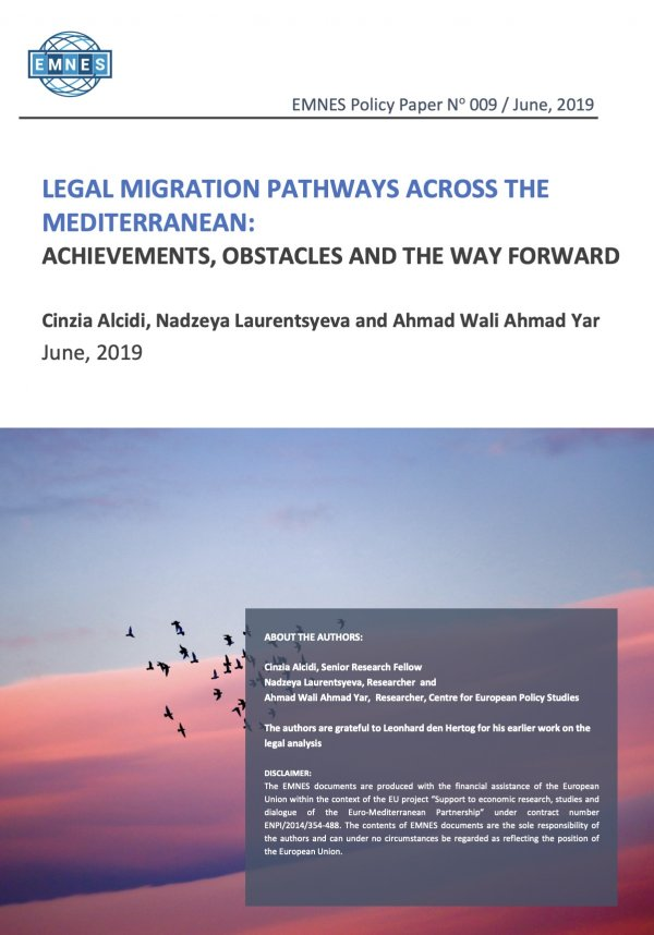 Legal Migration Pathways Across The Mediterranean: Achievements, Obstacles And The Way Forward