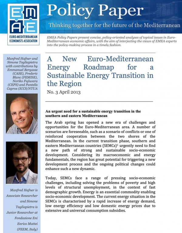 A New Euro-Mediterranean Energy Roadmap for a Sustainable Energy Transition in the Region