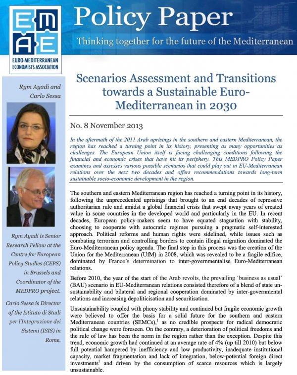 Scenarios Assessment and Transitions towards a Sustainable Euro-Mediterranean in 2030